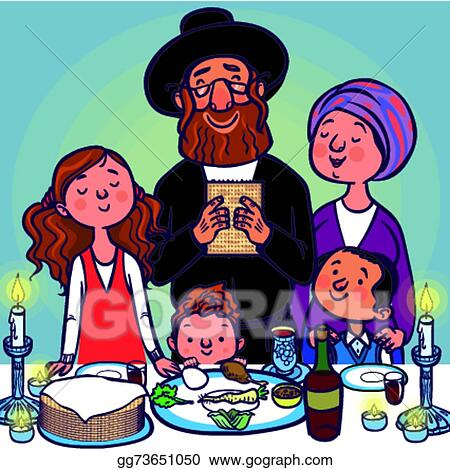 Vector clipart funny happy jewish passover greeting card vector funny happy jewish passover greeting card vector illustration m4hsunfo