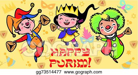 Vector stock funny happy purim greeting card vector illustration funny happy purim greeting card vector illustration m4hsunfo