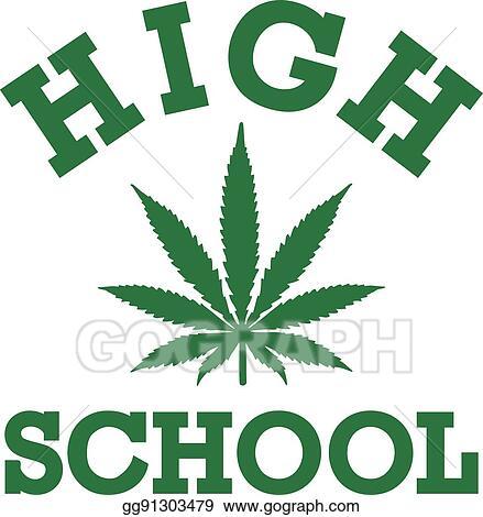 Funny Highschool With Marijuana Leaf