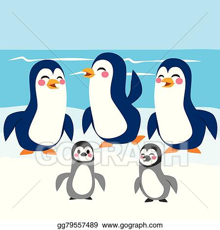 clip art vector funny penguins antarctica stock eps gg79557489 rh gograph com Antarctica Drawing antarctica clipart black and white