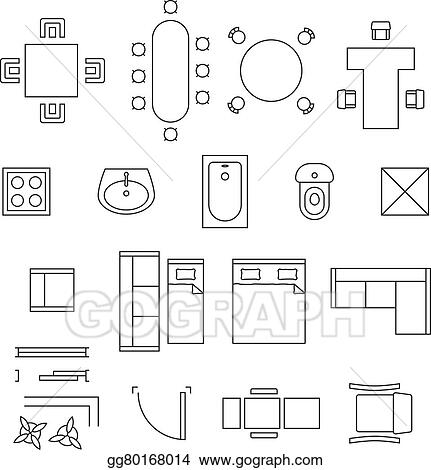 Miraculous Eps Vector Furniture Linear Vector Symbols Floor Plan Download Free Architecture Designs Scobabritishbridgeorg