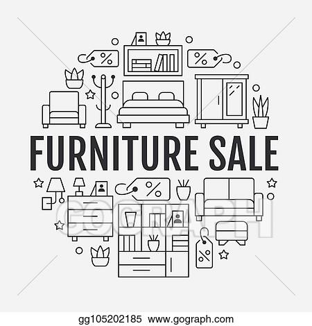 Vector Clipart Furniture Banner Ilration With