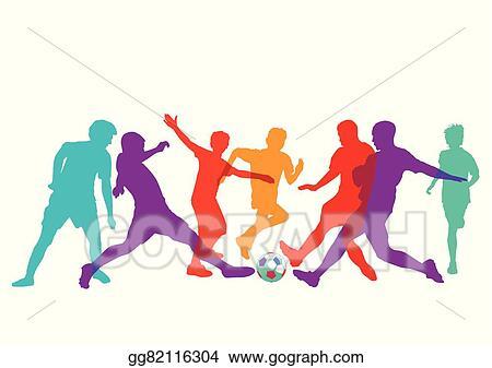 Vector Clipart Fussballspieler Eps Vector Illustration