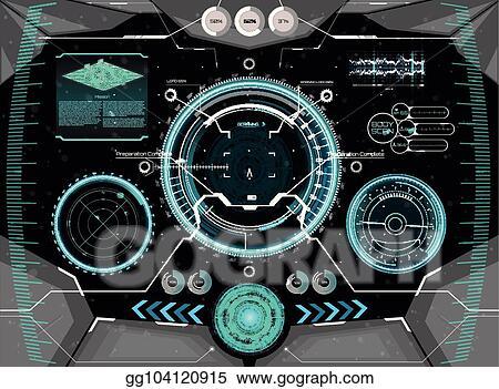 Vector Art Futuristic Concept Gui For Helmet Head Up Display Eps