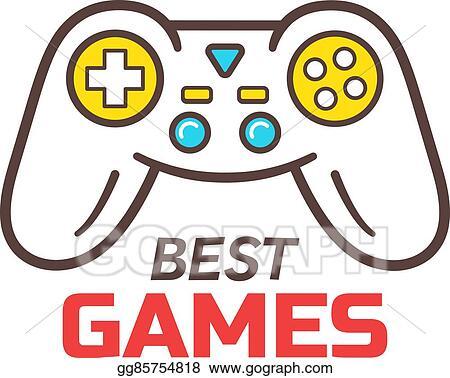 Vector Art Games Store Logo Template Game Controller Icon
