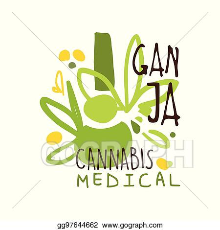 Ganja Cans Medical Label Logo Graphic Template