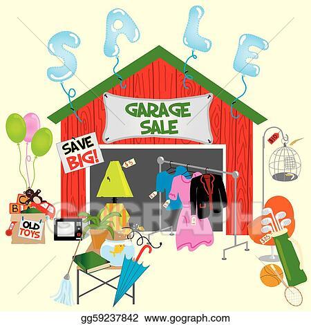 vector art garage sale clipart drawing gg59237842 gograph rh gograph com garage sale sign clipart clipart garage sale cartoons