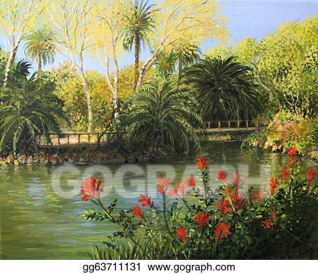 Drawing - Garden of eden. Clipart Drawing gg63711131 - GoGraph