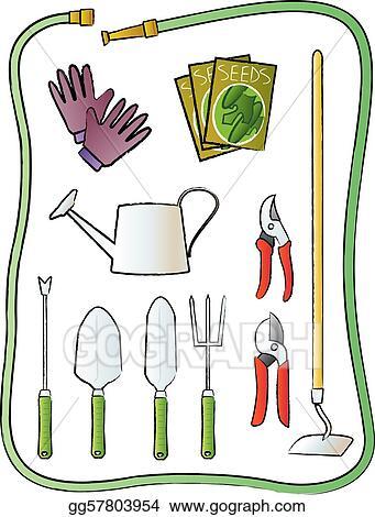 Eps Vector Garden Tools Stock Clipart Illustration Gg57803954