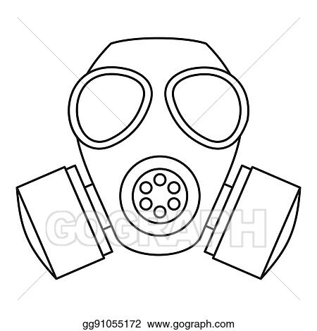 Style Stock Drawings Icon Outline - Gas Illustration Mask