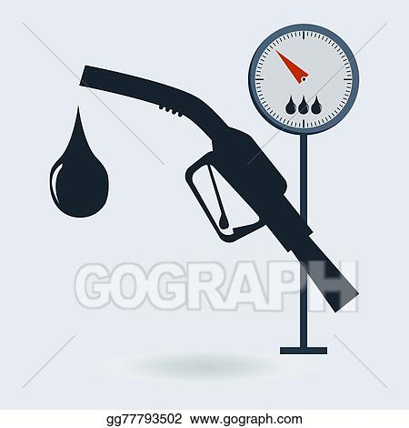 Vector Clipart - Gasoline pump nozzle sign  gas station icon