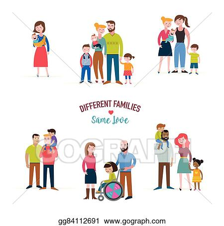 vector stock gay family different kind of families special needs rh gograph com  special needs clipart