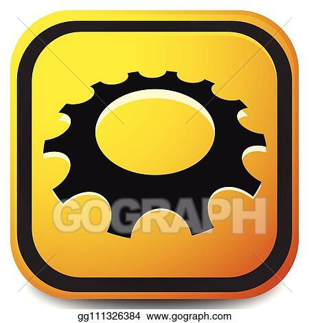 Vector Art - Gear, cogwheel icon for repair, developement