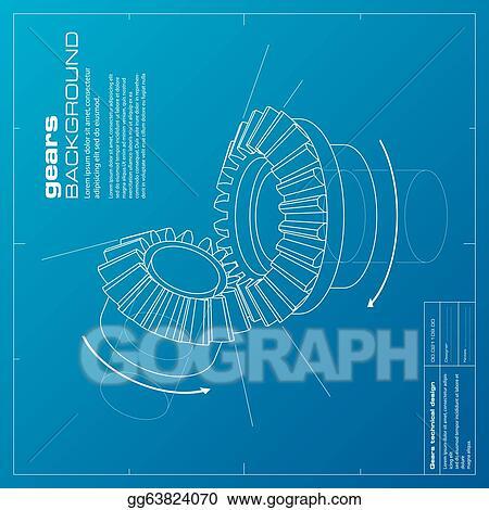 Vector art gears blueprint background vector eps clipart gears blueprint background vector malvernweather Image collections