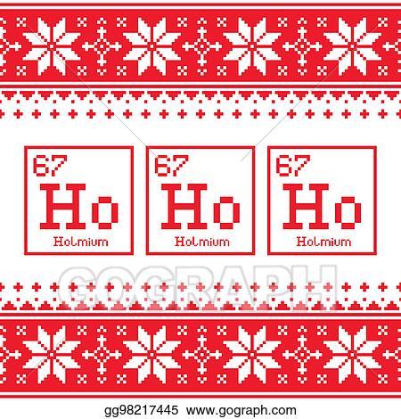 Christmas Sweater Pattern.Stock Illustration Geek Christmas Seamless Pattern Ho Ho