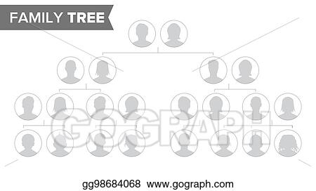 Vector Stock - Genealogical tree template vector. family history ...