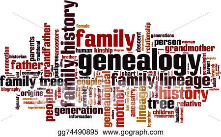 eps illustration genealogy word cloud vector clipart gg74490895 rh gograph com genealogical clip art genealogical clip art