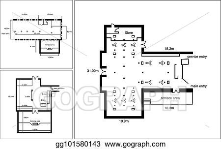 vector stock generic floor plan for a commercial office space