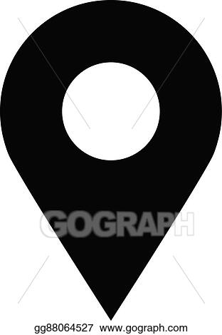 vector art geo location pin vector icon eps clipart gg88064527 gograph https www gograph com clipart license summary gg88064527