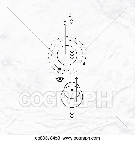Vector Stock Geometric Abstract Mystic Symbol Stock Clip Art