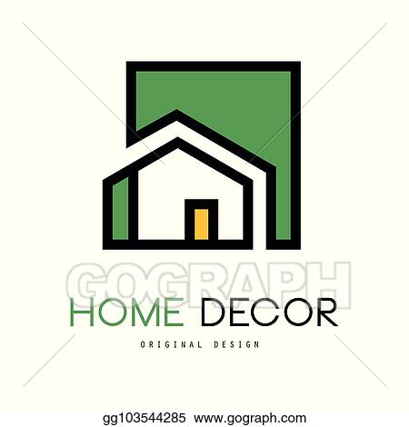 Eps Illustration Geometric Vector Logo With Abstract