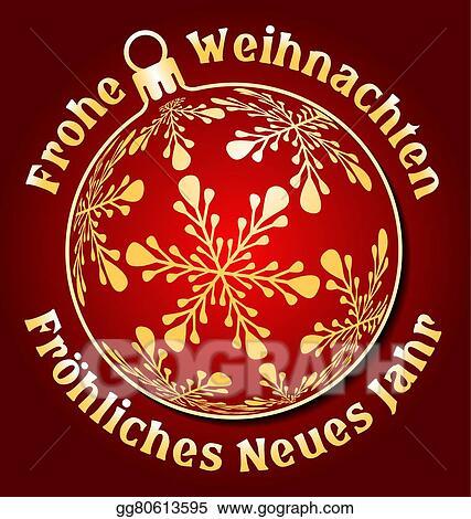 Vector Clipart - German merry christmas