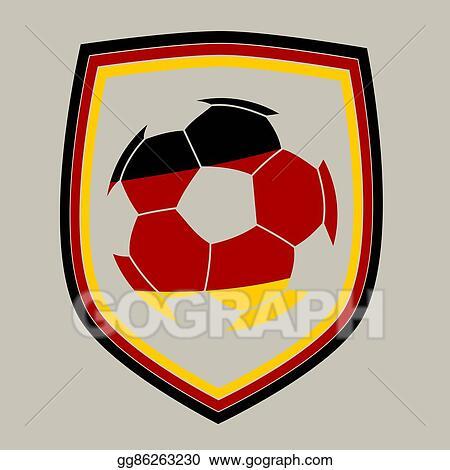 Vector Stock German Soccer Label Clipart Illustration Gg86263230