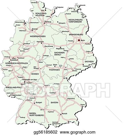 Vector Clipart - Germany autobahn map. Vector Illustration ...