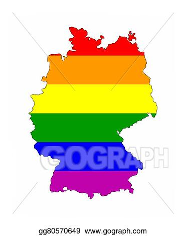 Stock Illustration Germany Gay Map Clipart Drawing Gg - Germany map shape