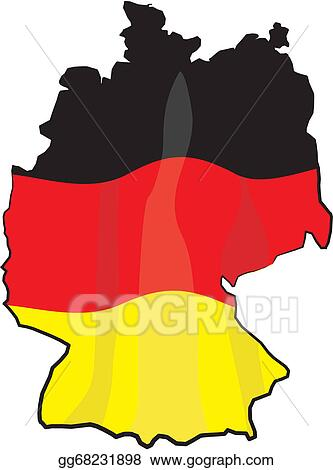Cartoon Map Of Germany.Vector Stock Germany Map And Flag Stock Clip Art Gg68231898