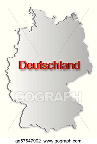 Vector Illustration Germany Map EPS Clipart Gg GoGraph - Germany map eps