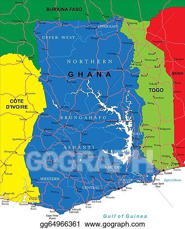 EPS Illustration - Ghana map. Vector Clipart gg64966361 ...