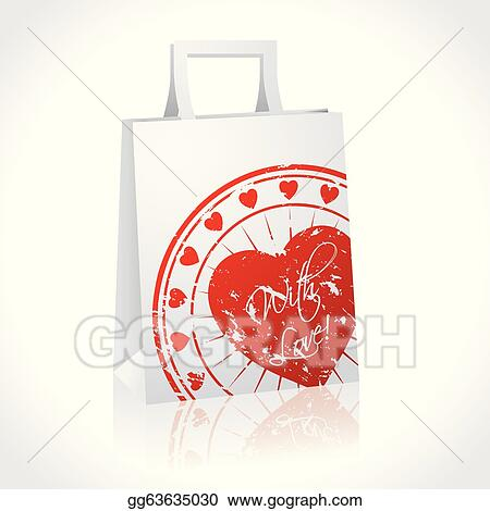 Gift Bag With Huge Heart