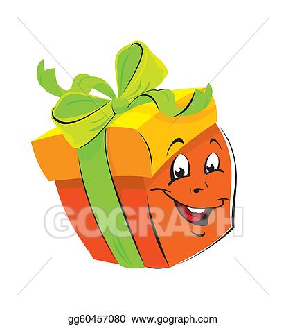 Vector Art Gift Box Cartoon With Funny Face Clipart Drawing Gg60457080 Gograph