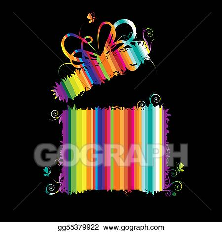 open present clipart. vector stock gift box open present clip art gg55379922 clipart
