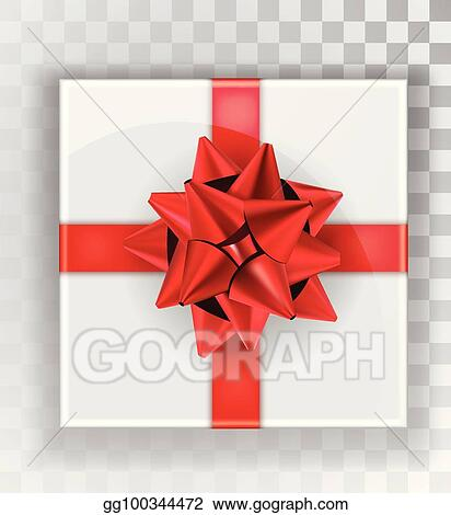 Eps Illustration Gift Box White Christmas Gift Boxes Isolated On A Transparent Background Green Box With A Colorful Elegant Bow Realistic Vector Object Isolated Vector Clipart Gg100344472 Gograph