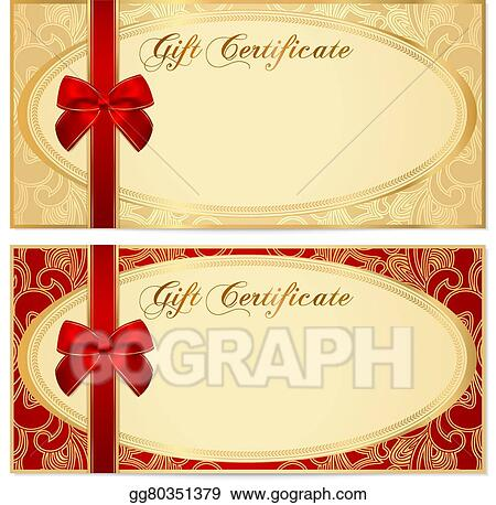 gift certificate voucher coupon bow