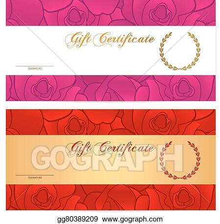 vector clipart gift certificate voucher gold coupon vector