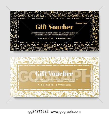 Eps Vector Gift Premium Voucher Coupon Template Stock Clipart