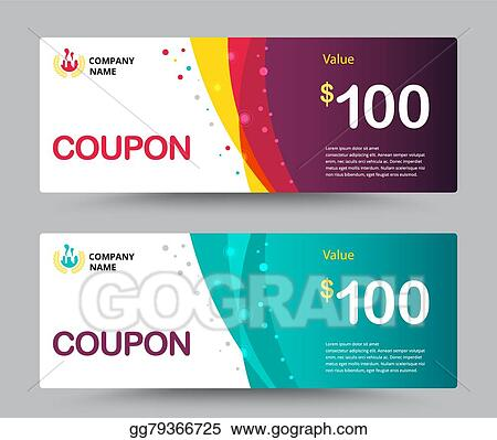 eps illustration gift voucher card template design for special