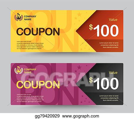 Gift Voucher Card Template Design For Special Time Coupon Thank Giving And Other Vector Ilration