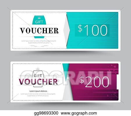 Eps Illustration Gift Voucher Card Template Design For Special
