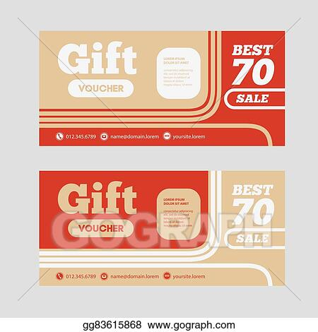 Gift Voucher Template With Amount Of And Contact Information For Hotel Restaurant Or Other Business