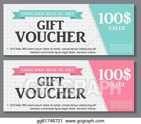 Vector Illustration - Gift voucher template with sample text vector ...