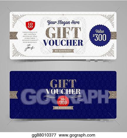 vector illustration gift voucher template eps clipart gg88010377