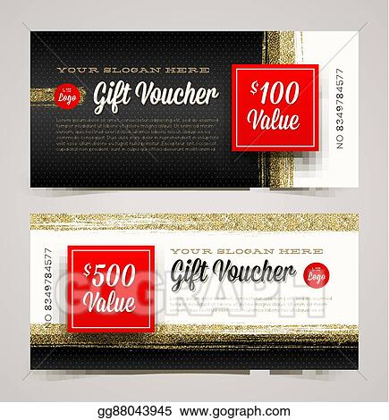 vector illustration gift voucher template eps clipart gg88043945
