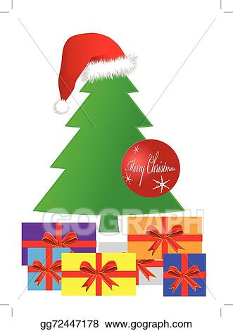 Gifts Under A Christmas Tree Eps 10 Vector