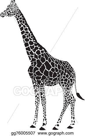 Vector Illustration Giraffe Black And White Vector Stock Clip Art