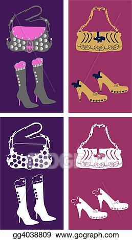 Stock Illustrations Girlâs Fashion Accessoriesgirls Fashion