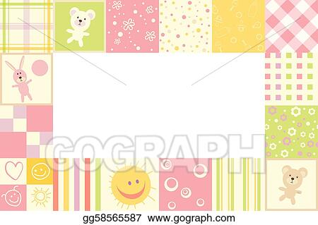 Vector Illustration - Girl baby frame. Stock Clip Art gg58565587 ...